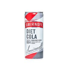 Smirnoff And Diet Cola 250Ml