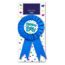 Tesco Birthday Boy Rosette Badge