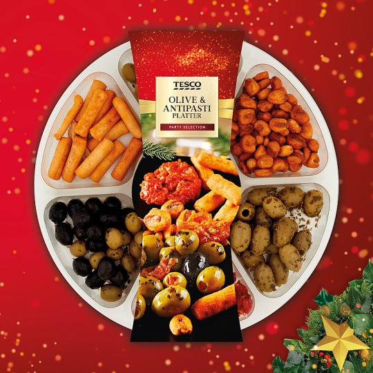 Tesco Olive And Antipasti Party Platter 550G