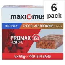 Maximuscle Promx Chocolate Brownie Bar 6 Pack X 60G