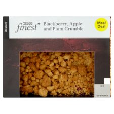 Tesco Finest Apple And Blackberry Crumble 350G