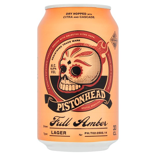 Pistonhead Full Amber Lager 330Ml