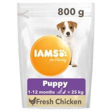 Iams Dog Food Puppy Small, Medium With Chicken 800G