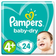 Pampers Baby Dry Size 4+ Carry Pack 24 Nappies