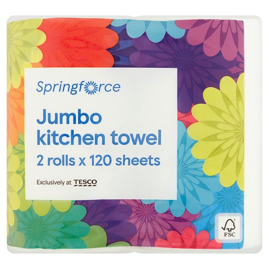 Tesco Everyday Value Kitchen Towel 2 Roll