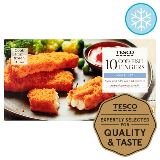 Tesco Cod Fish Fingers 10 Pack 300G