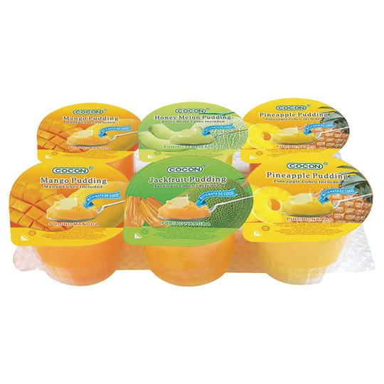 Cocon Assorted Fruit Jelly Pudding 6 X 118G