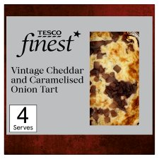 Tesco Finest Vintage Cheddar & Caramelised Onion Quiche400g