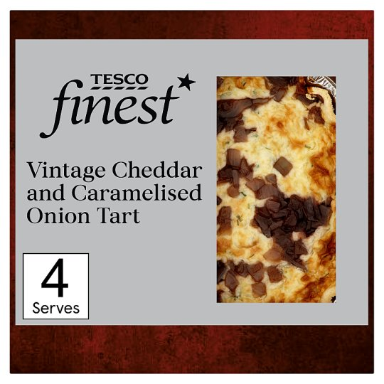 Tesco Finest Vintage Cheddar And Caramelised Onion Quiche400g