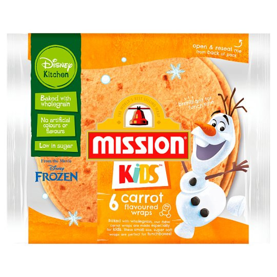 Mission Kids Disney 6 Carrot Flavoured Wraps 186G