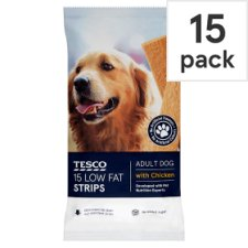Tesco Healthy Low Fat Chicken Strips Dog Treats 150G