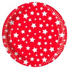 Tesco Stars Plate 20 Pack