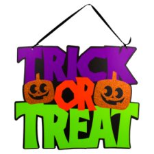 Tesco Trick Or Treat Hanging Sign