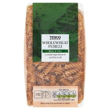 Tesco Whole Wheat Fusilli Pasta 500G