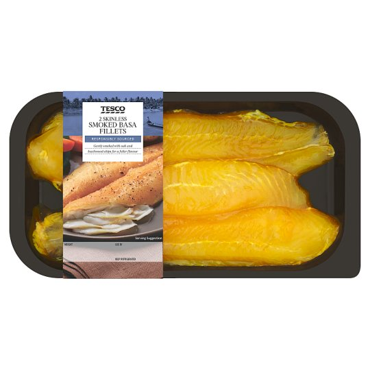 image 1 of Tesco 2 Skinless Smoked Basa Fillets 250G
