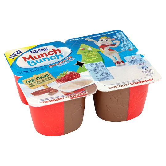 Munch Bunch Strawberry And Chocolate 4X85g