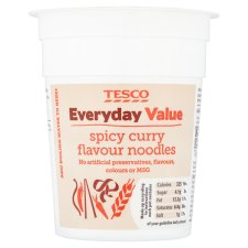 Tesco Everyday Value Spicy Curry Flavoured Noodles 70G