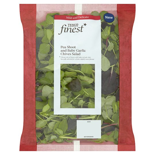 Tesco Finest Pea Shoot And Garlic Chives 85G