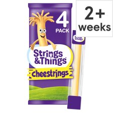 Cheestrings Original Cheese Snack 4 Pack, 80 G