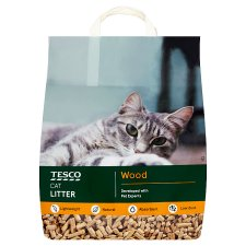 Tesco Absorbent Wood Light Weight Cat Litter 10L