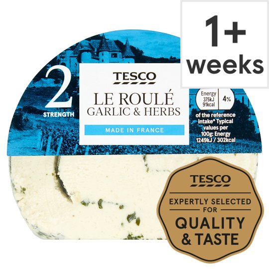 Tesco French Le Roule Garlic & Herb Soft Cheese 150 G