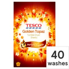 Tesco Ambience Golden Topaz Tumble Dryer Sheet 40S