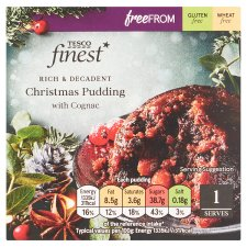 Tesco Finest Free From Christmas Pudding 100G