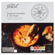 Tesco Finest Smoked Cheddar And Ale Bake 300G