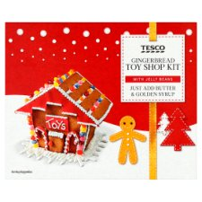 Tesco Gingerbread Kit Toy Shop 400G
