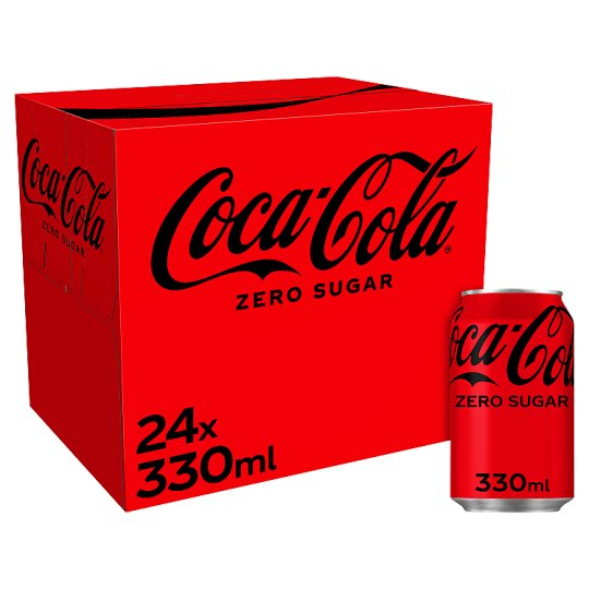image 1 of Coca Cola Coke Zero 24X330ml