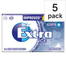 Wrigleys Extra Ice Peppermint Gum 5 Pack