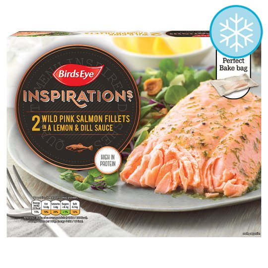 Birds Eye Inspirations 2 Pink Salmon Fillets Lemon And Dill 280G