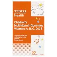 Tesco Childrens Jelly Vitamins Acde Orange X 30