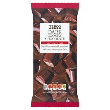 Tesco Dark Cooking Chocolate 150G