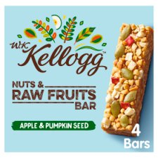 Wk Kellogg Apple & Pumpkin Bar 4X30g