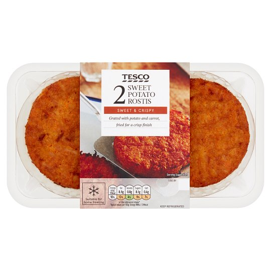 Tesco Sweet Potato Rosti 196G