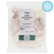 Tesco Squid Raw Prepared 300G