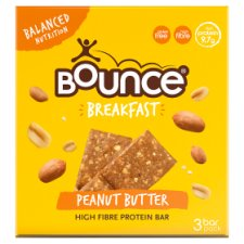 Bounce Breakfast Peanut Butter Protein Fibre Bars 3X45g