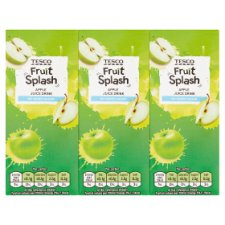 Tesco Apple Juice Drink No Added Sugar 3X250ml