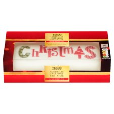 Tesco Christmas Greetings Fruit Cake 1Kg
