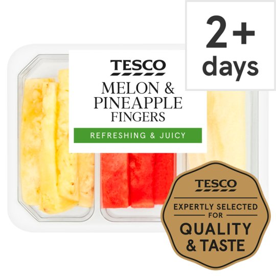 image 1 of Tesco Melon And Pineapple Finger Trio 300G