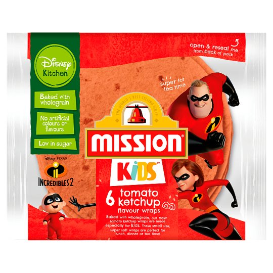 Mission Kids Disney 6 Tomato K/Uk Wraps 186G