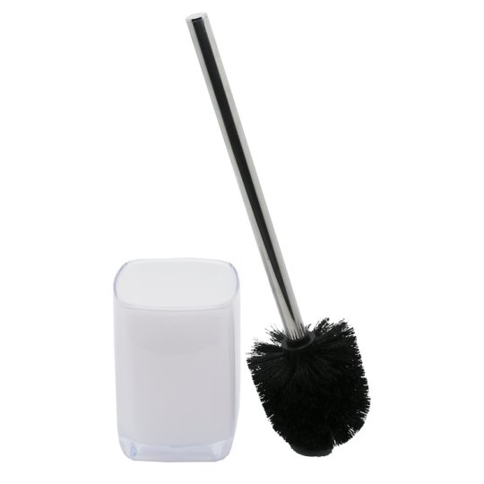 Tesco Cube Toilet Brush And Holder White