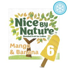 Nice By Nature Mango And Banana Lollies 6X40ml