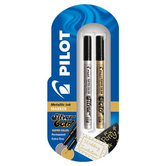 Pilot Gold/ Silver Extra Fine Marker 2 Pack