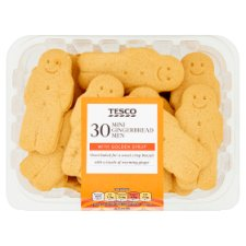 Tesco 30 Mini Gingerbread Men 270G