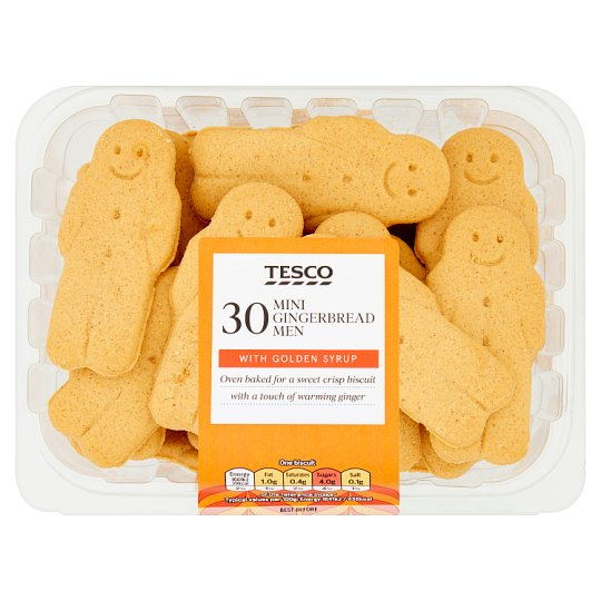Tesco Mini Gingerbread Men 270G
