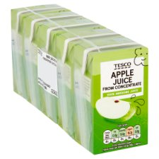 Tesco Pure Apple Juice 5X150ml