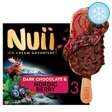 Nuii Dark Chocolate And Berry Ice Cream Sticks 3X90ml