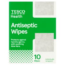 Tesco Antiseptic Wipes 10'S